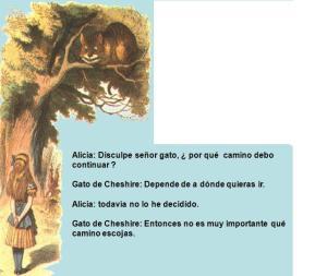 El gato de Cheshire, filósofo a la vez que mascota