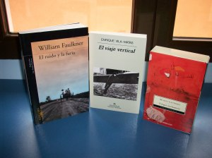 Ejemplares de Faulkner, Vila-Matas y Levrero
