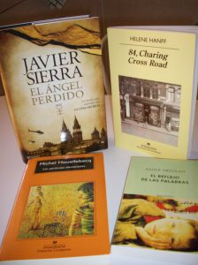 Libros de Sierra, Houellebecq, Hanff y Abdolah