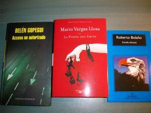 Novelas de Gopegui, Vargas Llosa y Bolaño