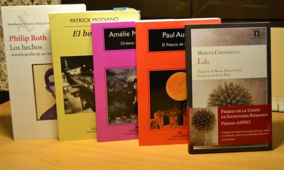 Libros de Roth, Modiano, Nothomb, Auster y Cartarescu