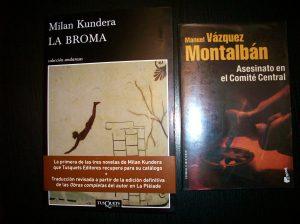 Libros de Kundera y de Vázquez Montalbán